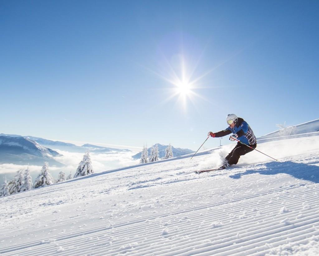 Skifahren bei Trient am Monte Bondone