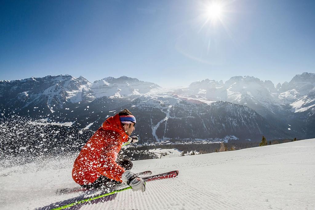 Frühling in den Dolomiten in den Trentino Skigebieten