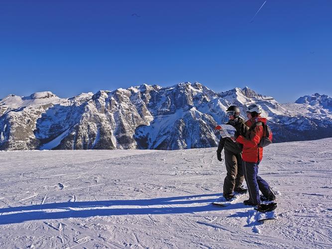 Skispaß vom Feinsten im Val di Sole Skigebiet